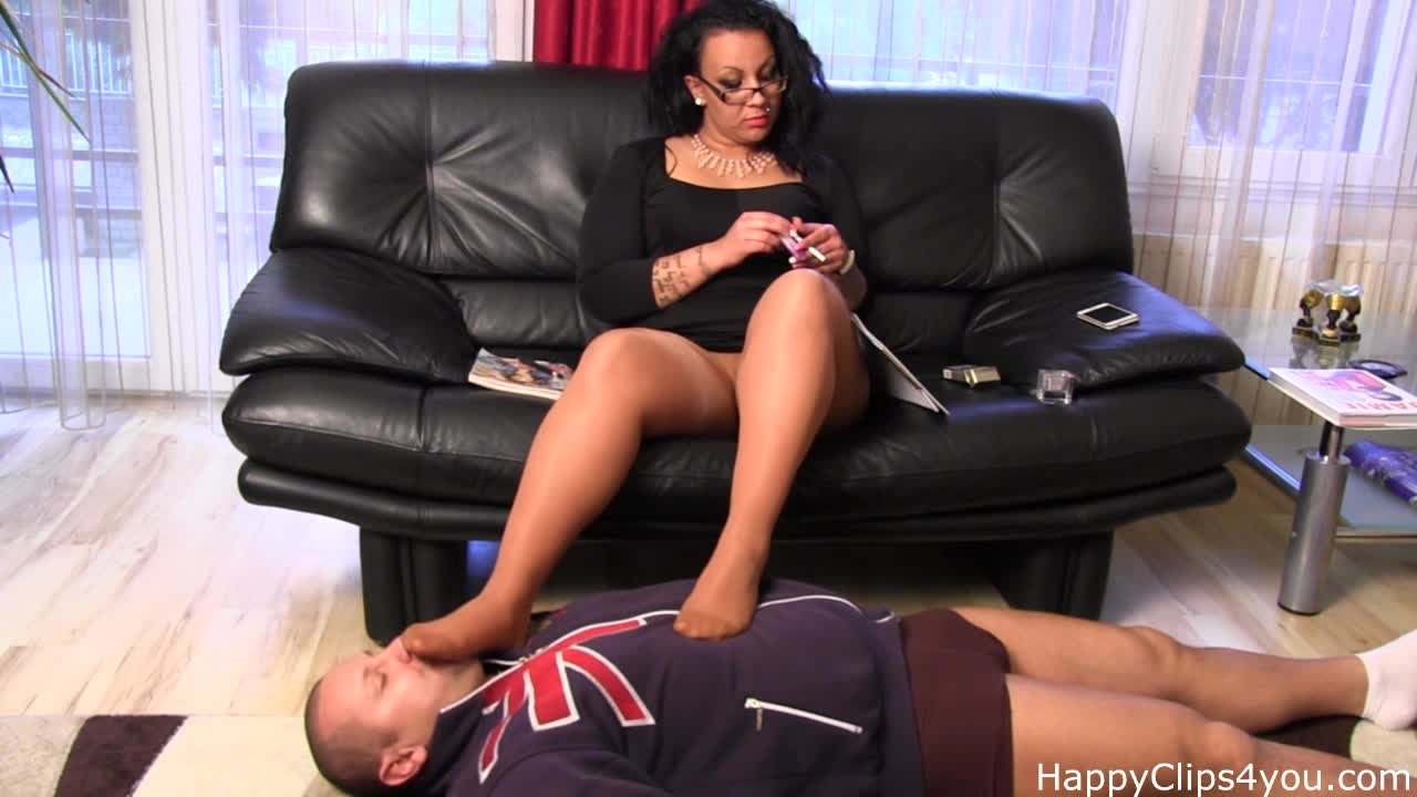 Female domination - foot slave training