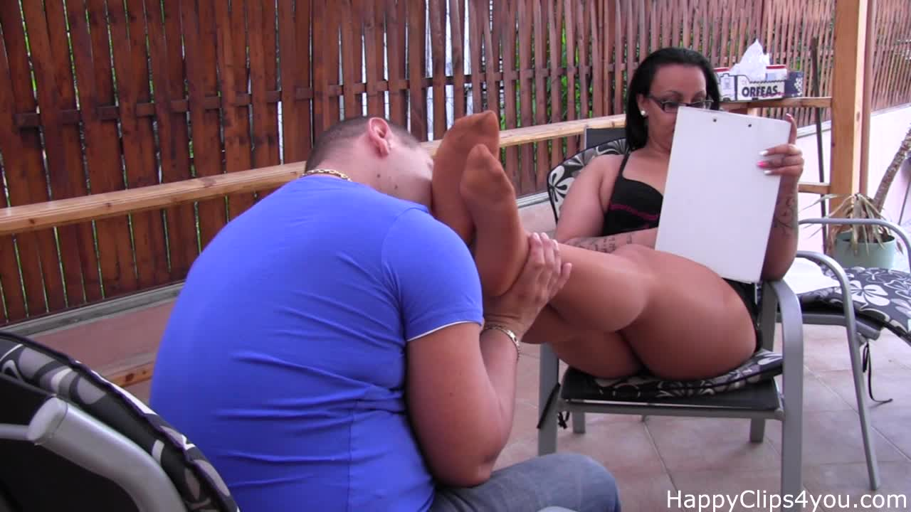 Gina nylon foot smelling and worship video